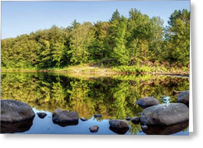 Canadian Lake Greeting Card by Nick  Shirghio
