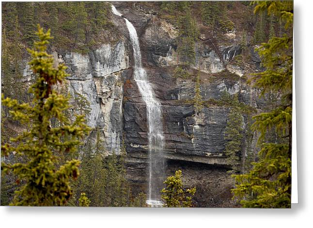 Canadian Water Fall 1908 Greeting Card by Larry Roberson