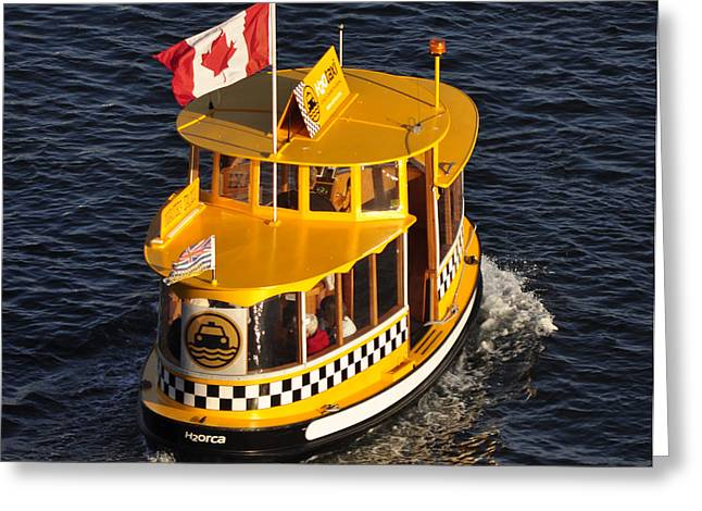 Canadian Water Taxi Greeting Card by MaryJane Armstrong