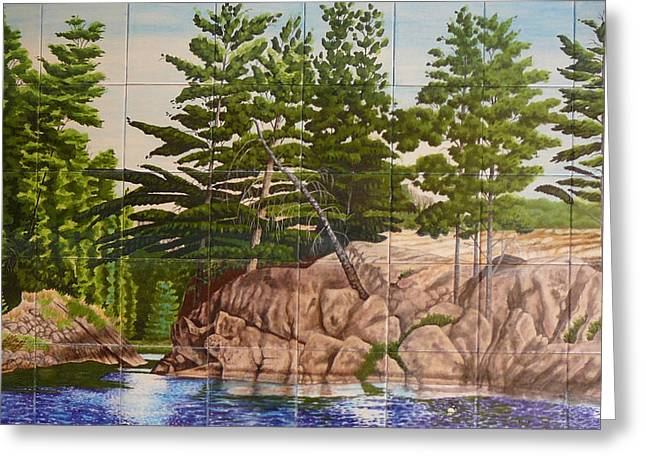 Canadian Wilderness Mural Greeting Card
