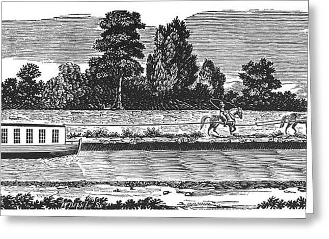 Canal, 19th Century Greeting Card by Granger
