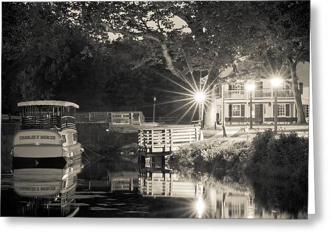 Canal Boat Greeting Card by Scott Faunce