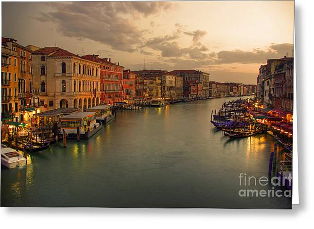 Canal Grande Greeting Card by Bela Torok