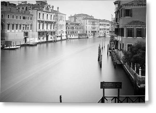 Canal Grande Study Iv Greeting Card by Nina Papiorek