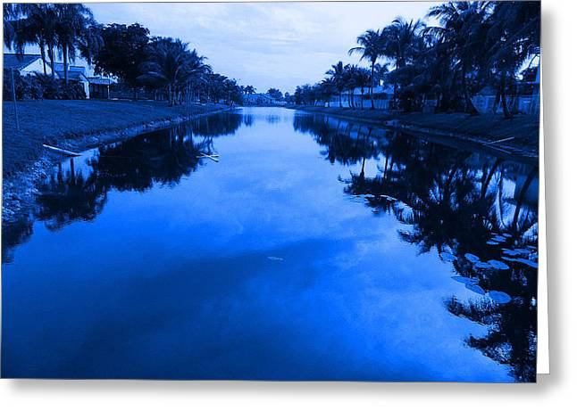 Canal View Greeting Card by Val Oconnor