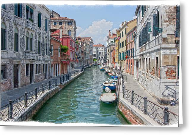 Canals Of Venice Greeting Card by Judy Deist