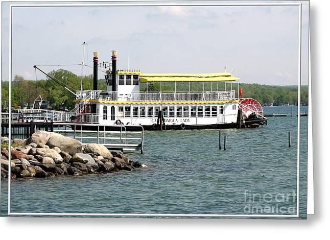 Canandaigua Lady Paddleboat Greeting Card by Rose Santuci-Sofranko