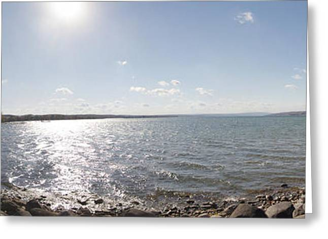 Greeting Card featuring the photograph Canandaigua Lake Panorama by William Norton