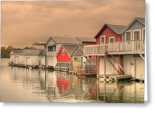 Canandaigua Pier Hdr Greeting Card by Joe Granita
