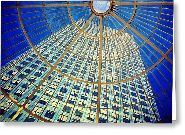 Canary Wharf Gold Greeting Card
