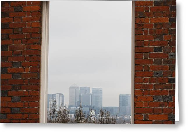 Greeting Card featuring the photograph Canary Wharf View by Maj Seda