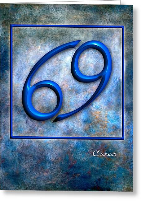 Cancer  Greeting Card by Mauro Celotti