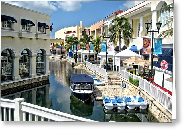 Cancun Shopping Greeting Card
