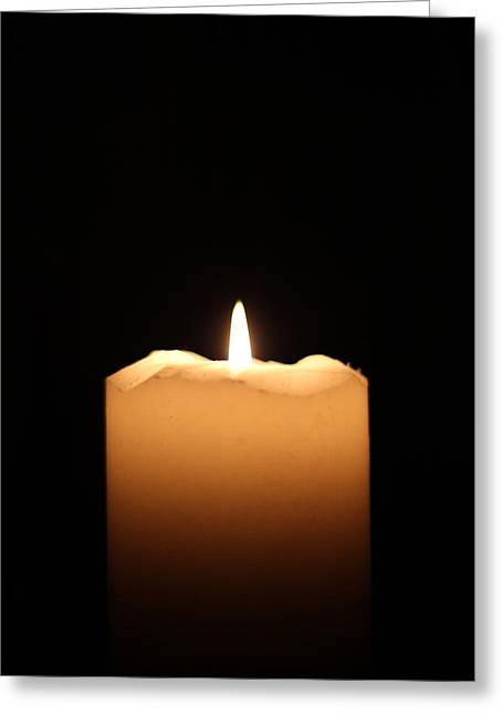 Candle Greeting Card by Bogdan Constantin Petrovici
