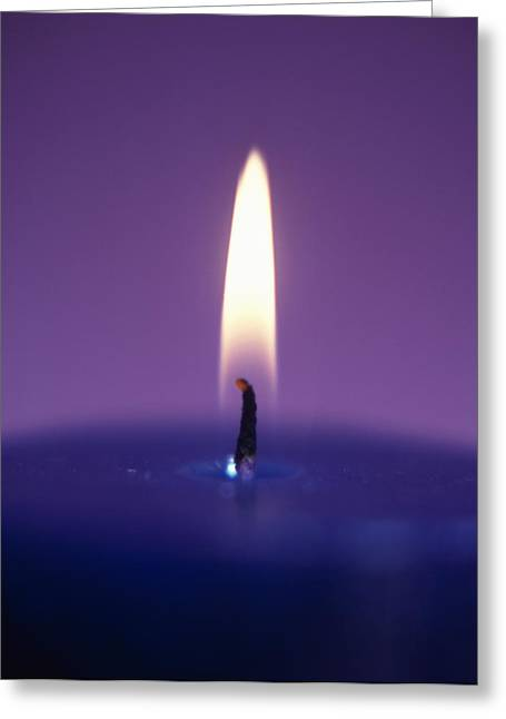 Candle Flame Greeting Card by Cristina Pedrazzini