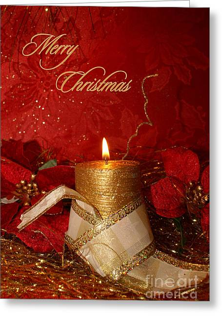 Candle Light Christmas Card Greeting Card by Aimelle