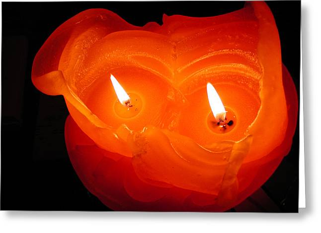 Greeting Card featuring the photograph Candle Photo by Colette V Hera  Guggenheim