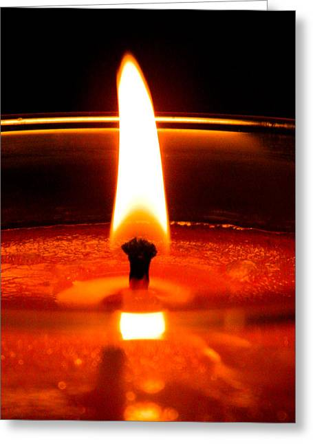 Greeting Card featuring the photograph Candlelight by Ester  Rogers