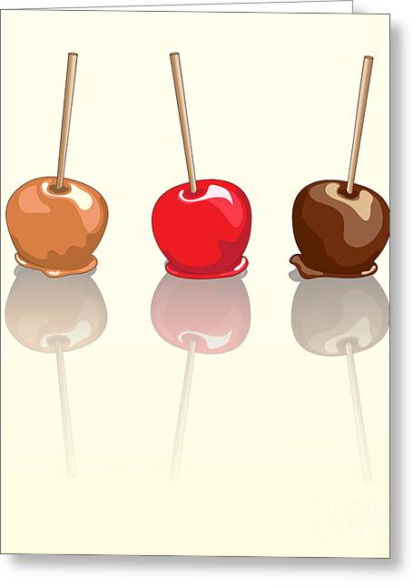 Candy Apples Reflected Greeting Card by Jane Rix