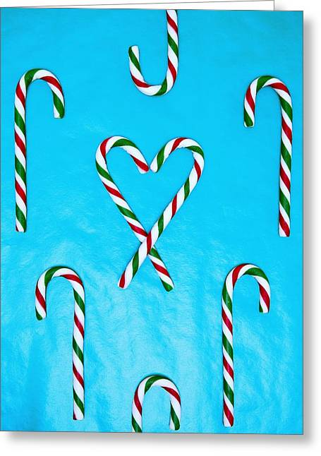Candy Canes Greeting Card by Carson Ganci