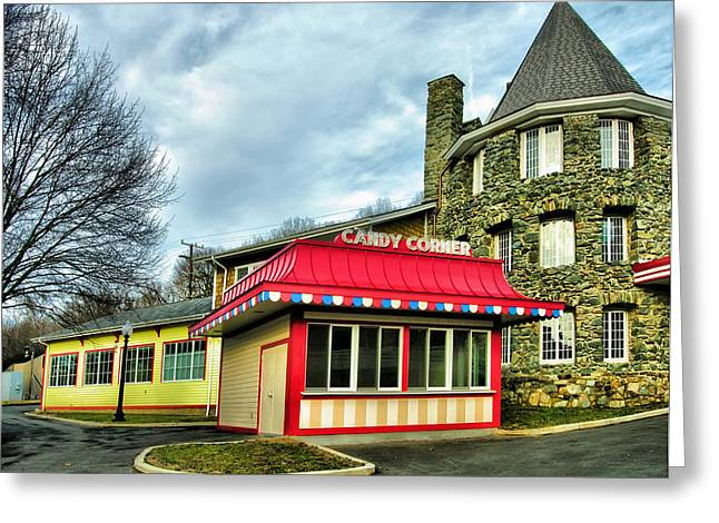 Candy Corner And Chatauqua Tower Greeting Card by Steven Ainsworth