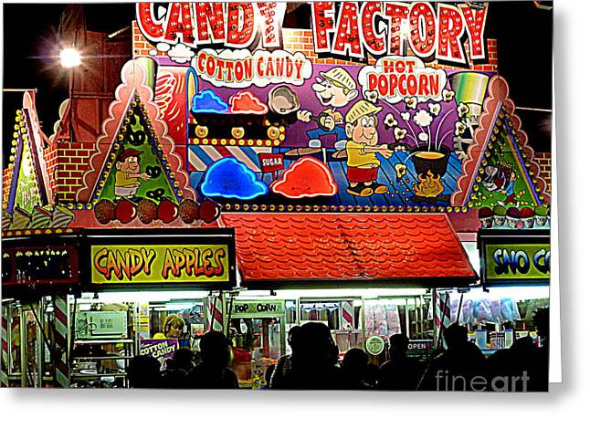 Greeting Card featuring the photograph Candy Factory by Renee Trenholm