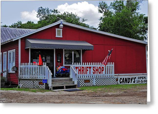 Candy's Thrift Shop Greeting Card by Lyle  Huisken