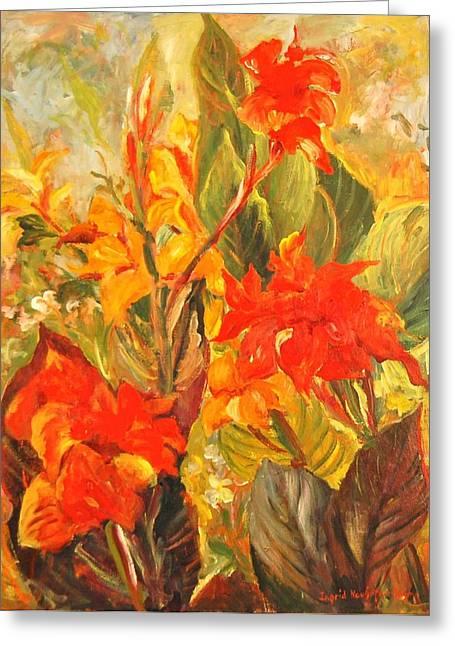 Canna Lilies Greeting Card
