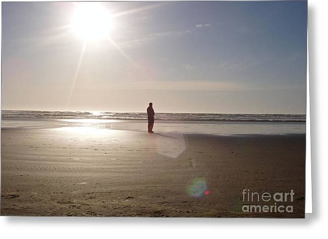 Cannon Beach Greeting Card by Elton Leung