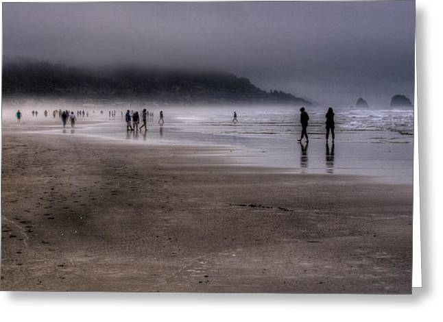 Cannon Beach Mist Greeting Card by David Patterson