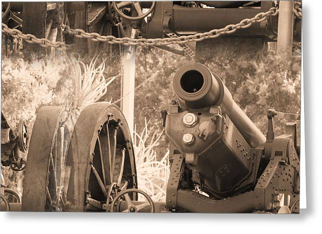 Cannon Greeting Card by Jaqueline Briel