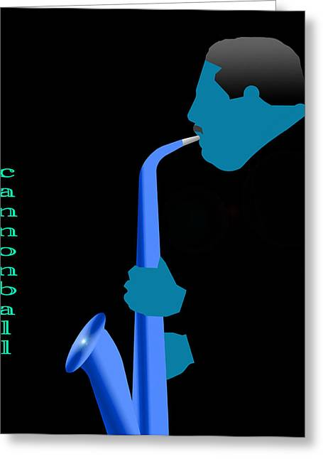 Cannonball Blue Greeting Card