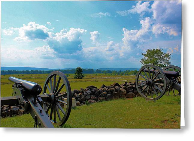 Cannons Greeting Card by Justin Mac Intyre