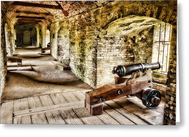 Cannons Of Dover Greeting Card by Wendy White