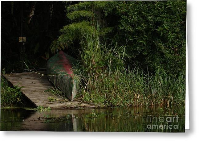 Canoe Green Thumbed Greeting Card