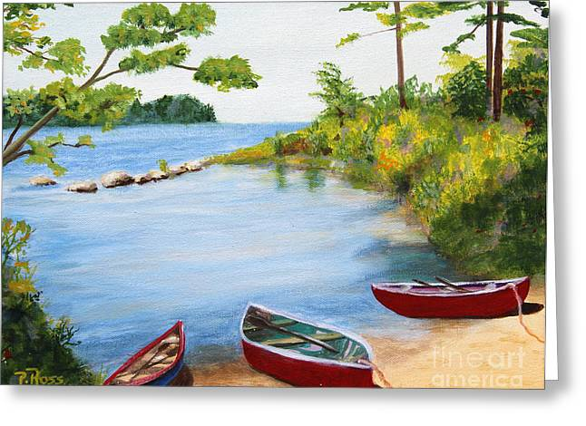Canoe Inlet Greeting Card by Pauline Ross
