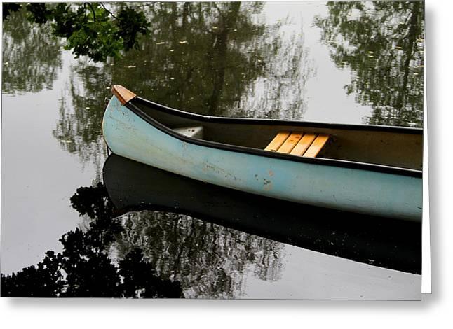 Canoe Greeting Card by Odd Jeppesen