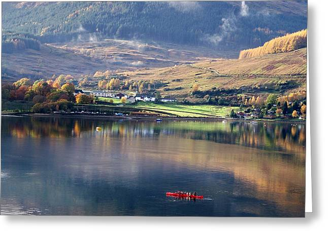 Greeting Card featuring the photograph Canoeing On Loch Goil by Lynn Bolt
