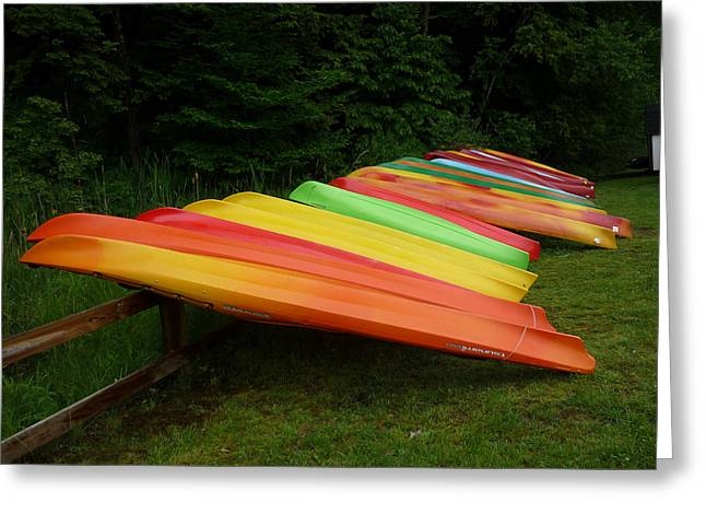 Canoes  Greeting Card by Pamela Turner