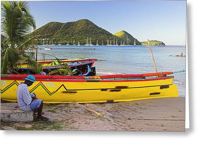 Canoes- St Lucia Greeting Card