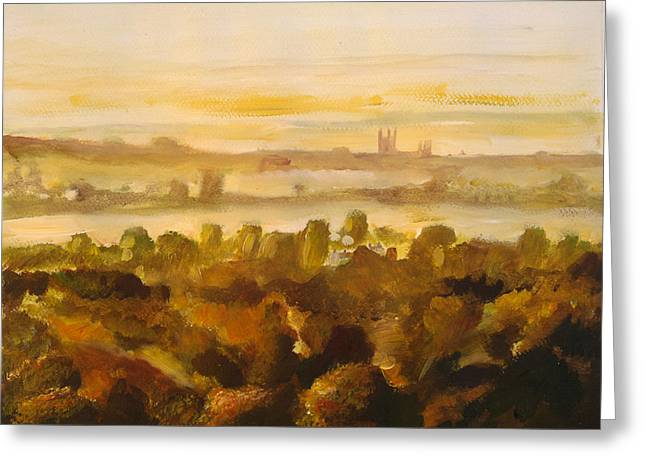 Canterbury Autumnal Haze Greeting Card by Paul Mitchell