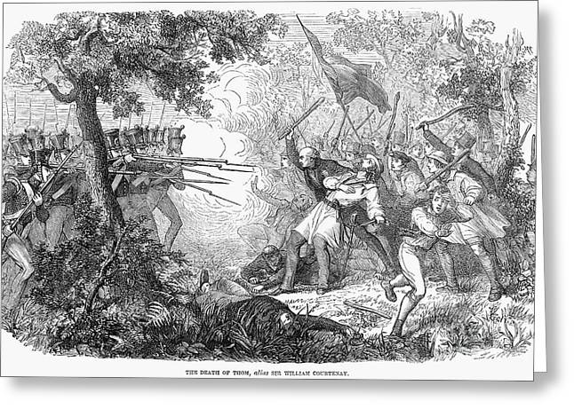 Canterbury Riot, 1838 Greeting Card by Granger