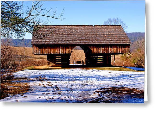 Cantilever Barn Greeting Card by Paul Mashburn