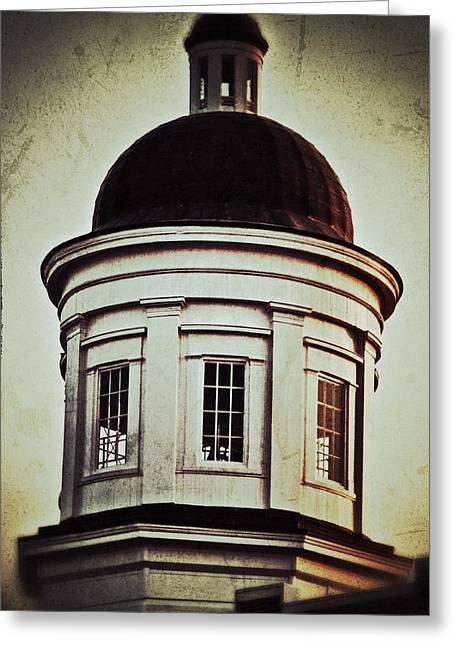 Greeting Card featuring the photograph Canton Courthouse Dome by Jim Albritton