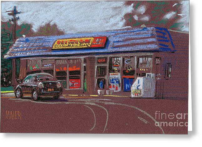 Canton Package Store Greeting Card by Donald Maier