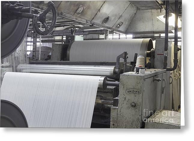 Canvas Manufacturing Machine Greeting Card by Magomed Magomedagaev