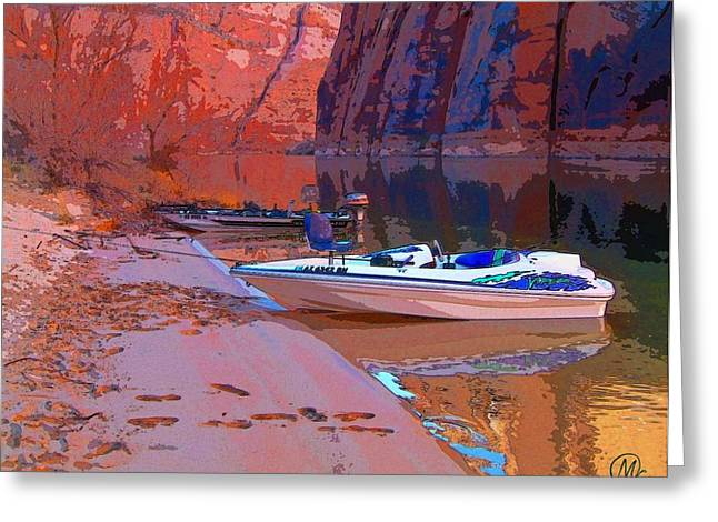 Canyon Boating Greeting Card