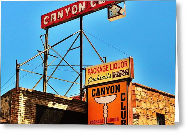 Canyon Club Route 66 Williams Arizona Greeting Card by George Sylvia