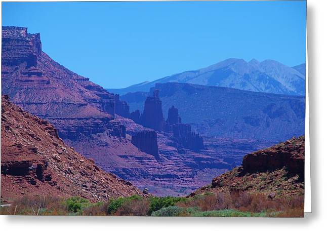 Canyon Colors Greeting Card by Dany Lison