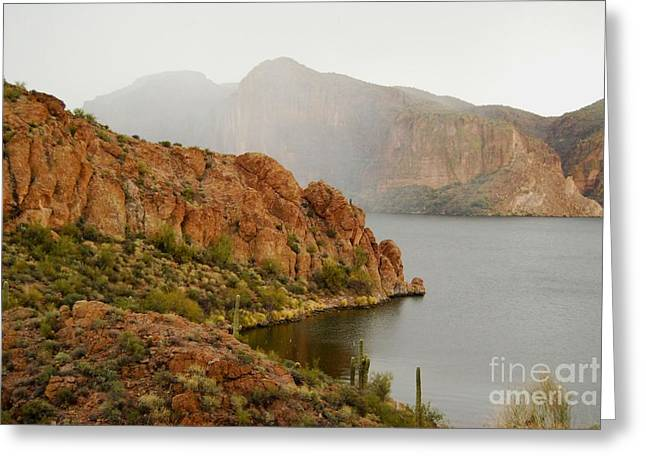 Greeting Card featuring the photograph Canyon Lake by Tam Ryan